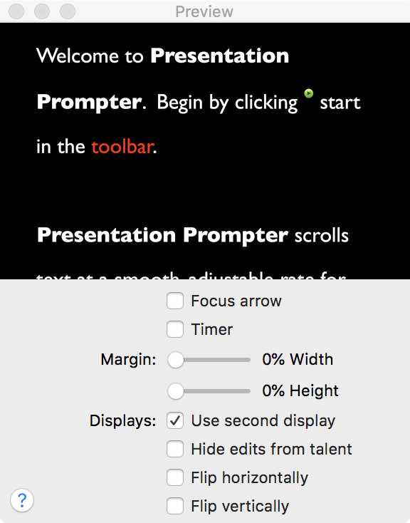 "Turn on ""Use second display"" in Presentation Prompter"